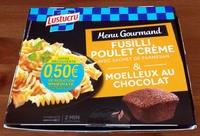 Fusilli poulet crème et moelleux au chocolat - Product