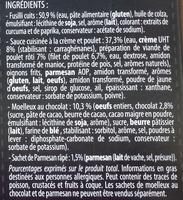Fusilli poulet crème et moelleux au chocolat - Ingrediënten