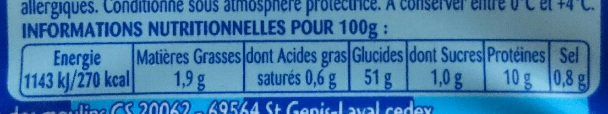 Tagliatelles aux oeufs frais - Nutrition facts