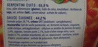 Box Serpentini tomate mozza - Ingrédients