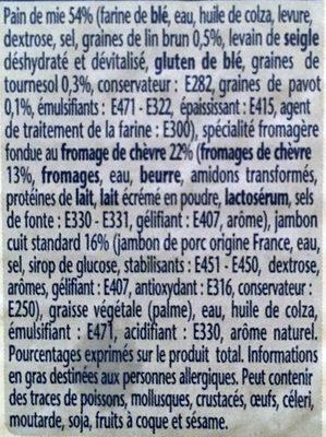 Croque à Poêler - Chèvre - Pain aux Graines - Ingrédients