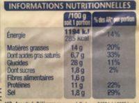 Croque à Poêler - Chèvre - Pain aux Graines - Informations nutritionnelles