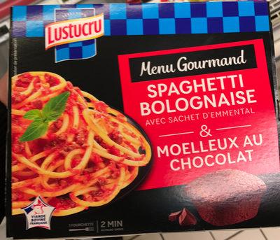 Menu Gourmand Spaghetti Bolognaise & Moelleux au Chocolat - Produit