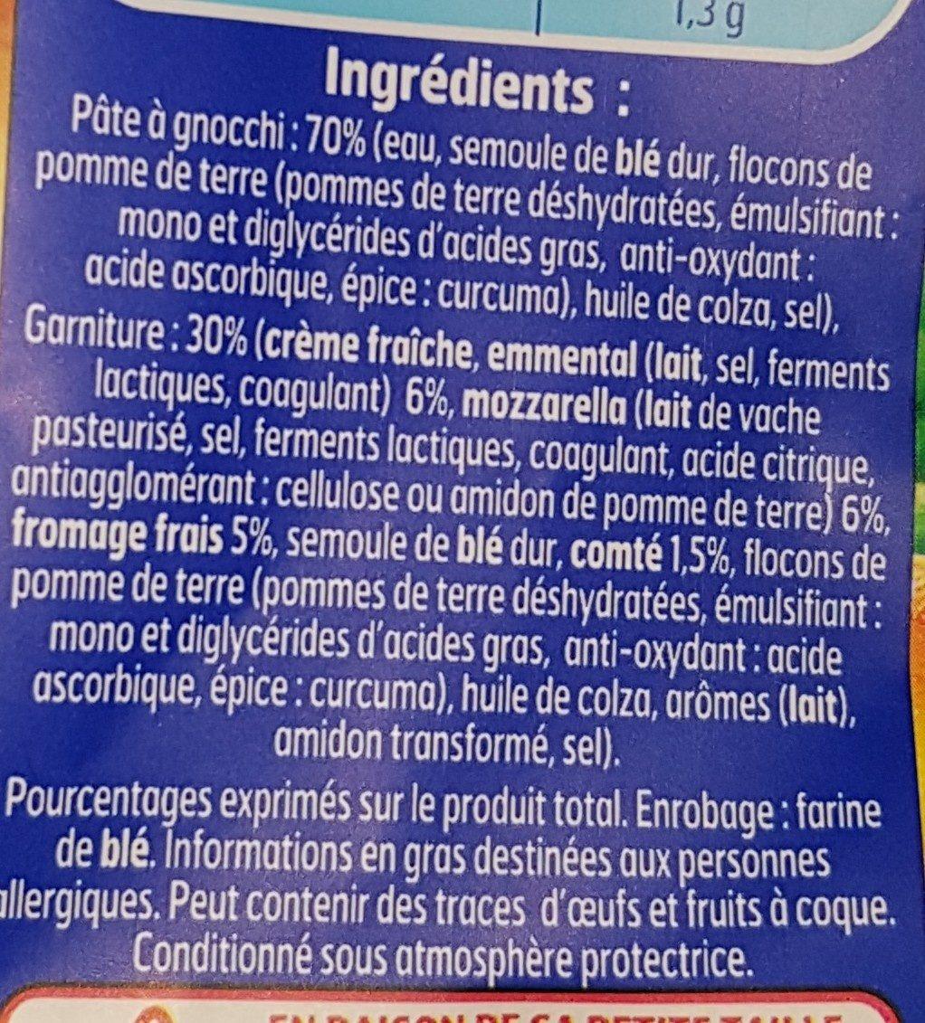 Gnocchi à Poêler fromage - Ingrédients
