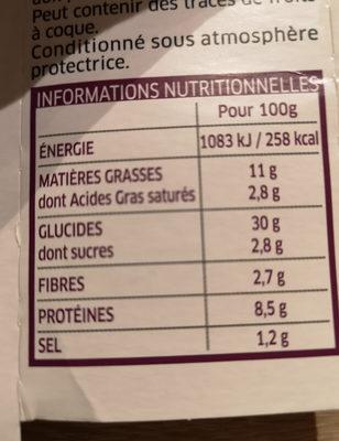 Pâtes fraîches lustucru Girasoli aubergines - Nutrition facts