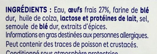 Lustucru petites quenelles nature 16x20g - Ingrediënten - fr