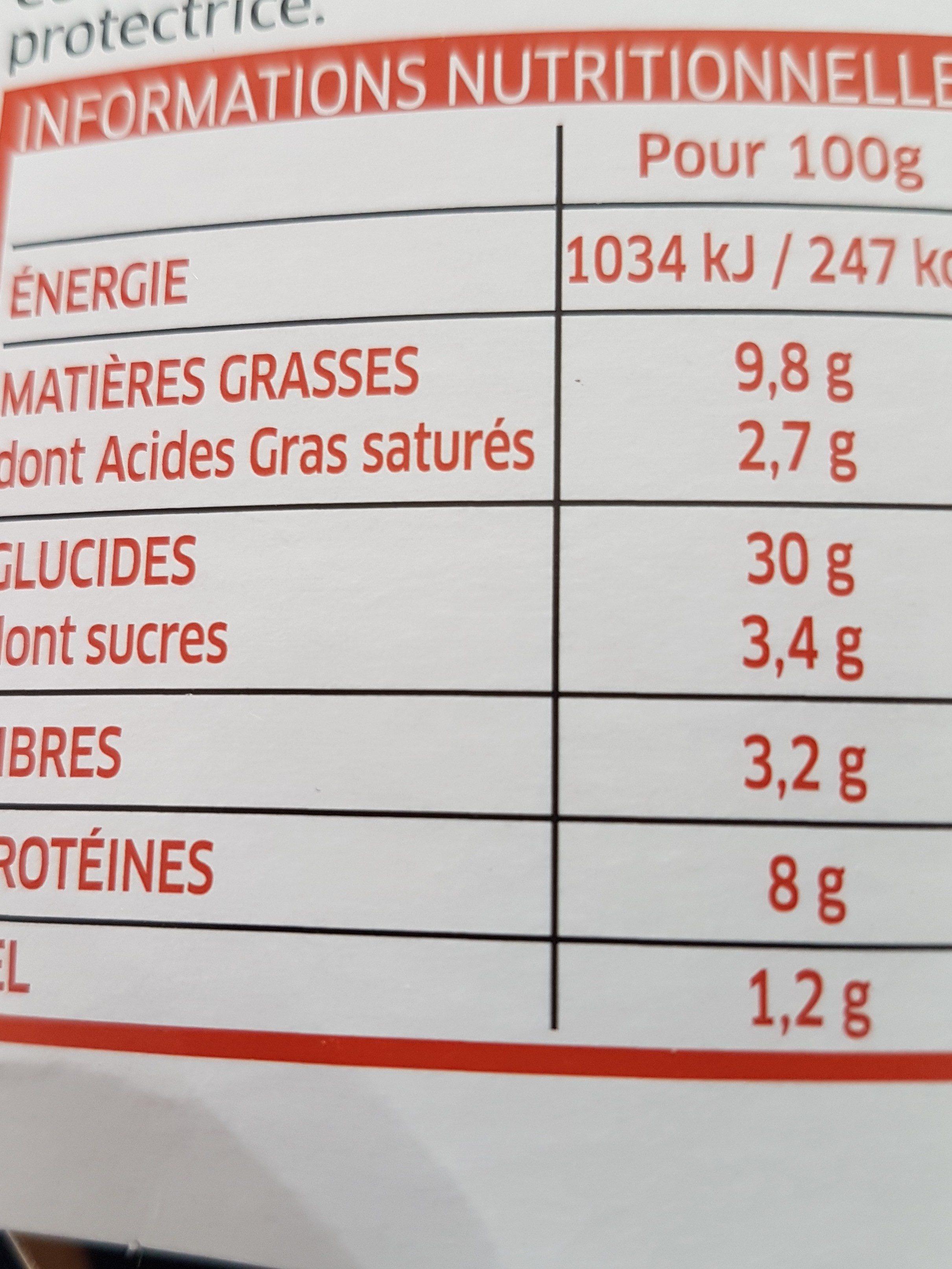 Girasoli - Informations nutritionnelles - fr
