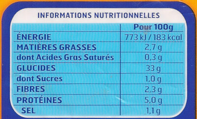 Gnocchi à Poêler (format XXL) - Nutrition facts