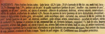 Pâtes Tortellini au Fromage - Ingrédients - fr