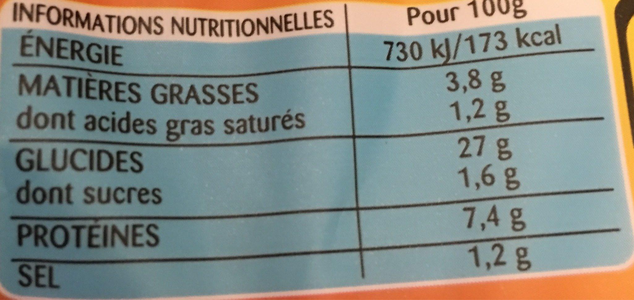 Lustucru tortellini a poeler jambon emmental - Informations nutritionnelles - fr