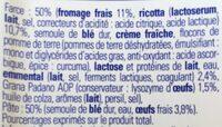 Ravioli 4 fromage - Ingredienti - fr