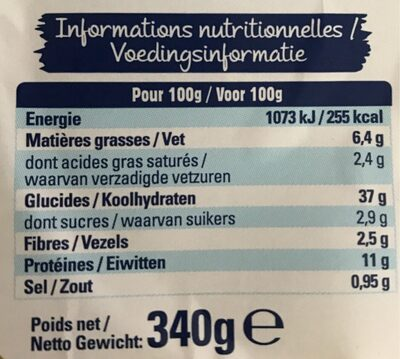 Ravioli 4 fromage - Informazioni nutrizionali - fr