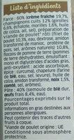 Girasoli Poulet girolles - Ingrédients