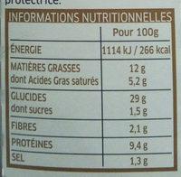 Girasoli Poulet girolles - Informations nutritionnelles
