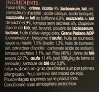 Demi lune tomate mozza di bufala basilic 250g - Ingredients - fr