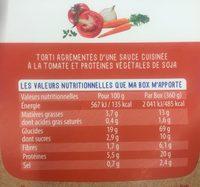 La Grande Box Veggie - torti bolo végétale - Informations nutritionnelles - fr