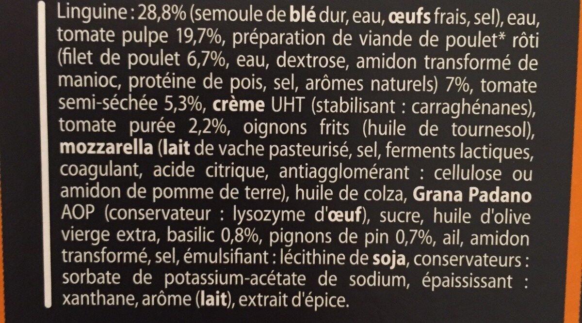 Linguine Poulet Emincé Tomates Pignons de Pin - Ingredients