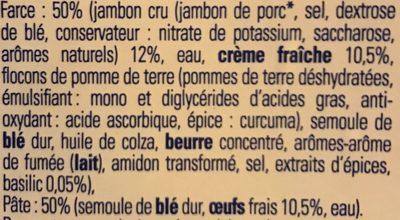 Tortellini jambon cru - Ingredients