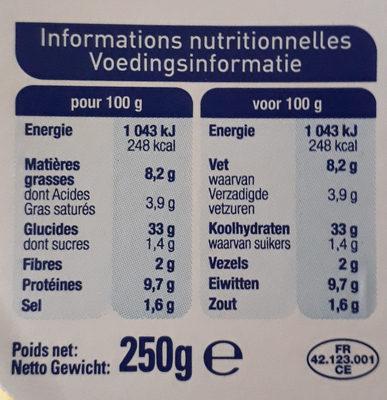 Tortellini jambon cru - Nutrition facts