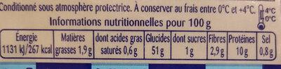 Tagliatelles aux œufs frais - Voedingswaarden