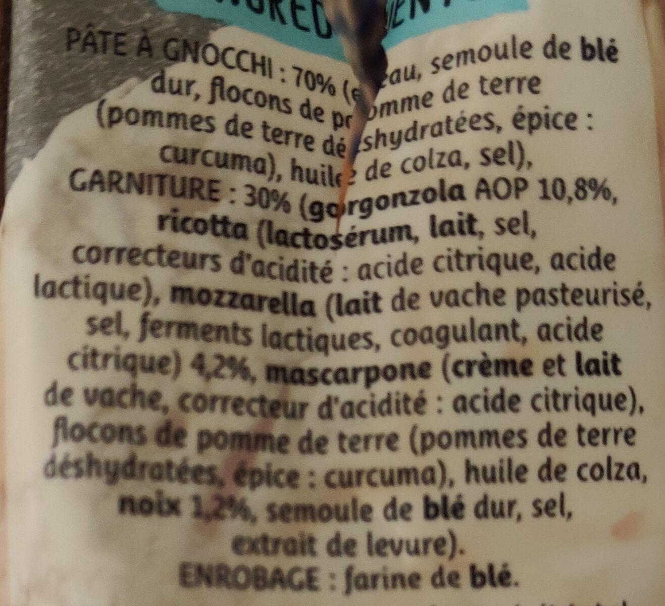 Gnocchi farcis gorgonzola et noix - Ingredients