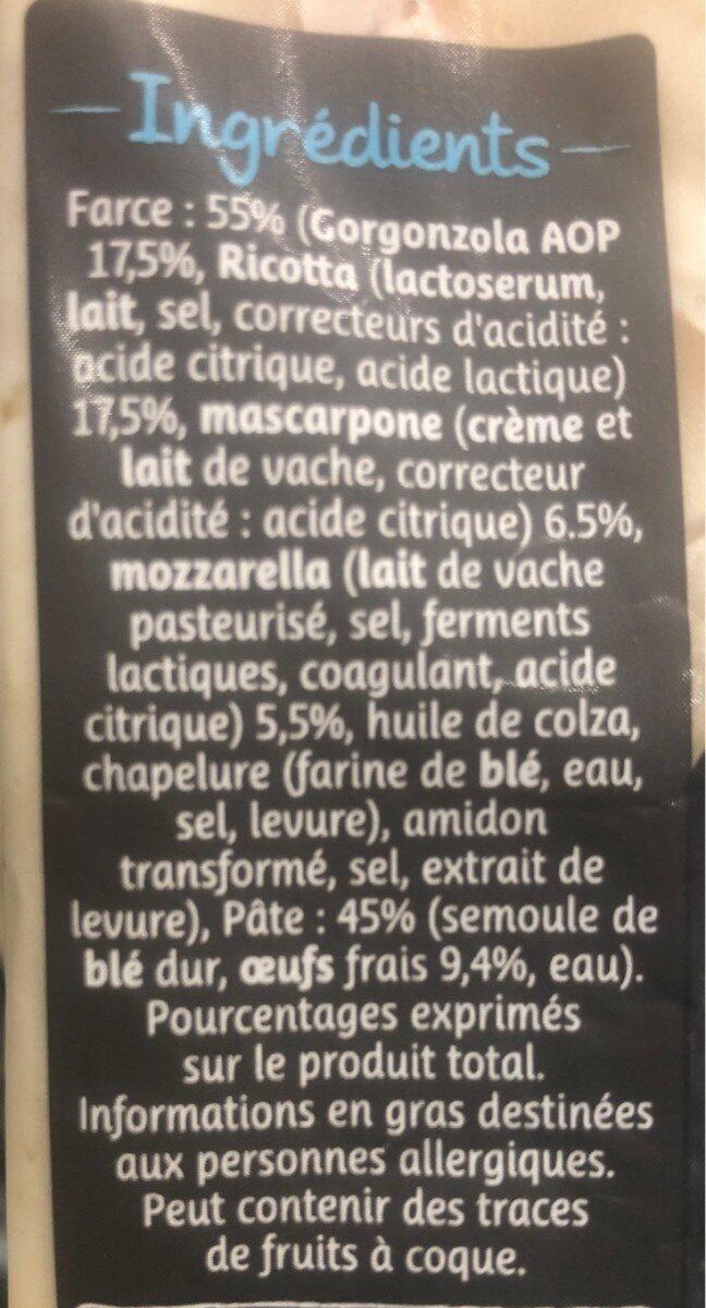 Raviolotti au gorgonzola AOP - Ingrédients