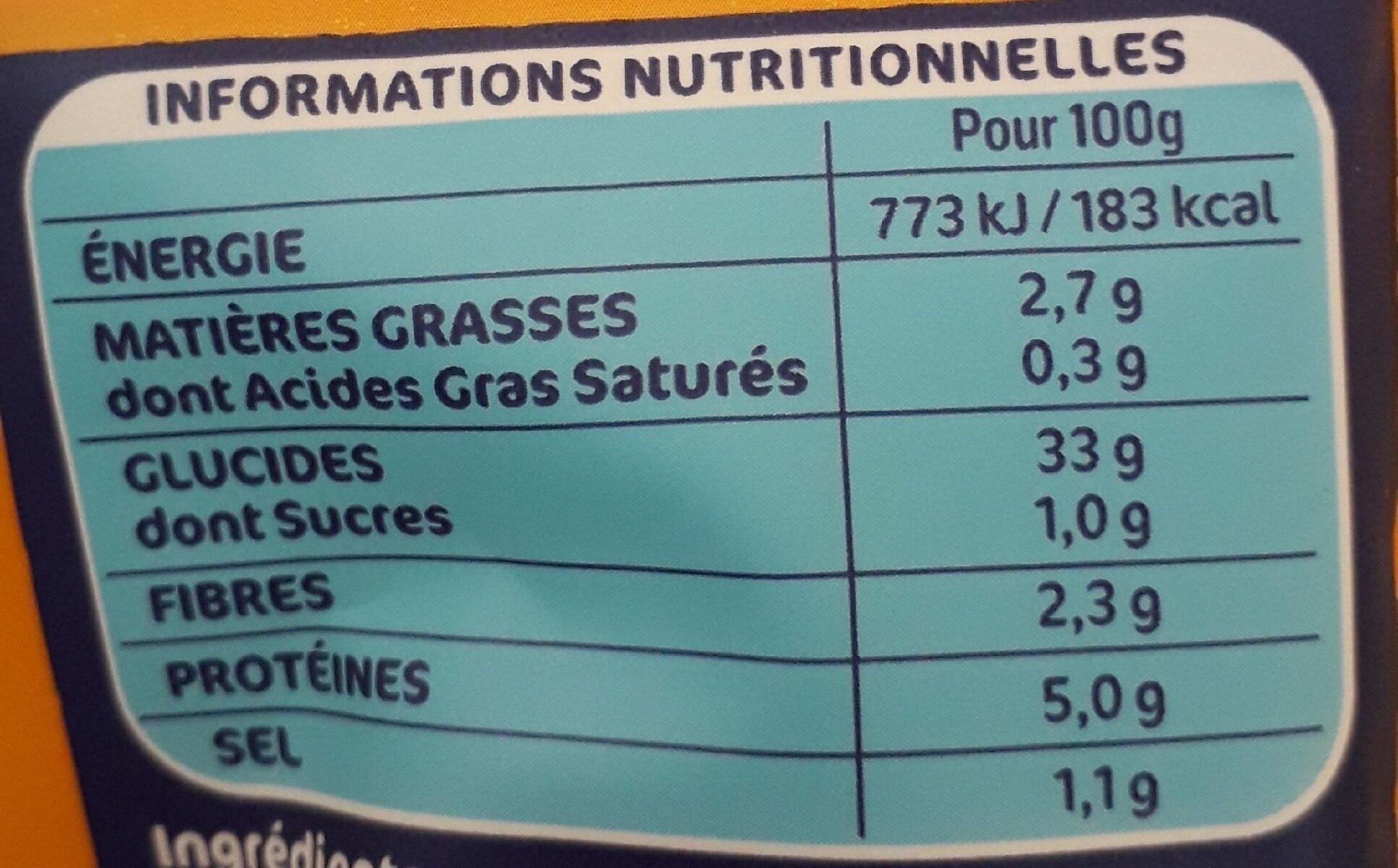 Lustucru gnocchi a poeler - Nutrition facts - fr