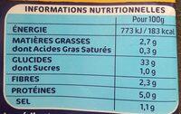 Lustucru gnocchi a poeler format xxl - Valori nutrizionali - fr