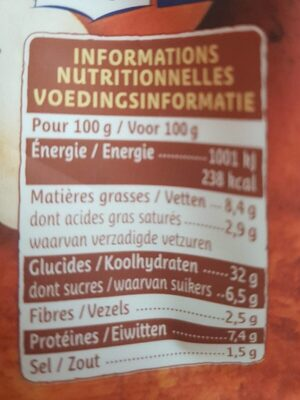 Girasoli Potimarron Champignons - Nutrition facts - fr