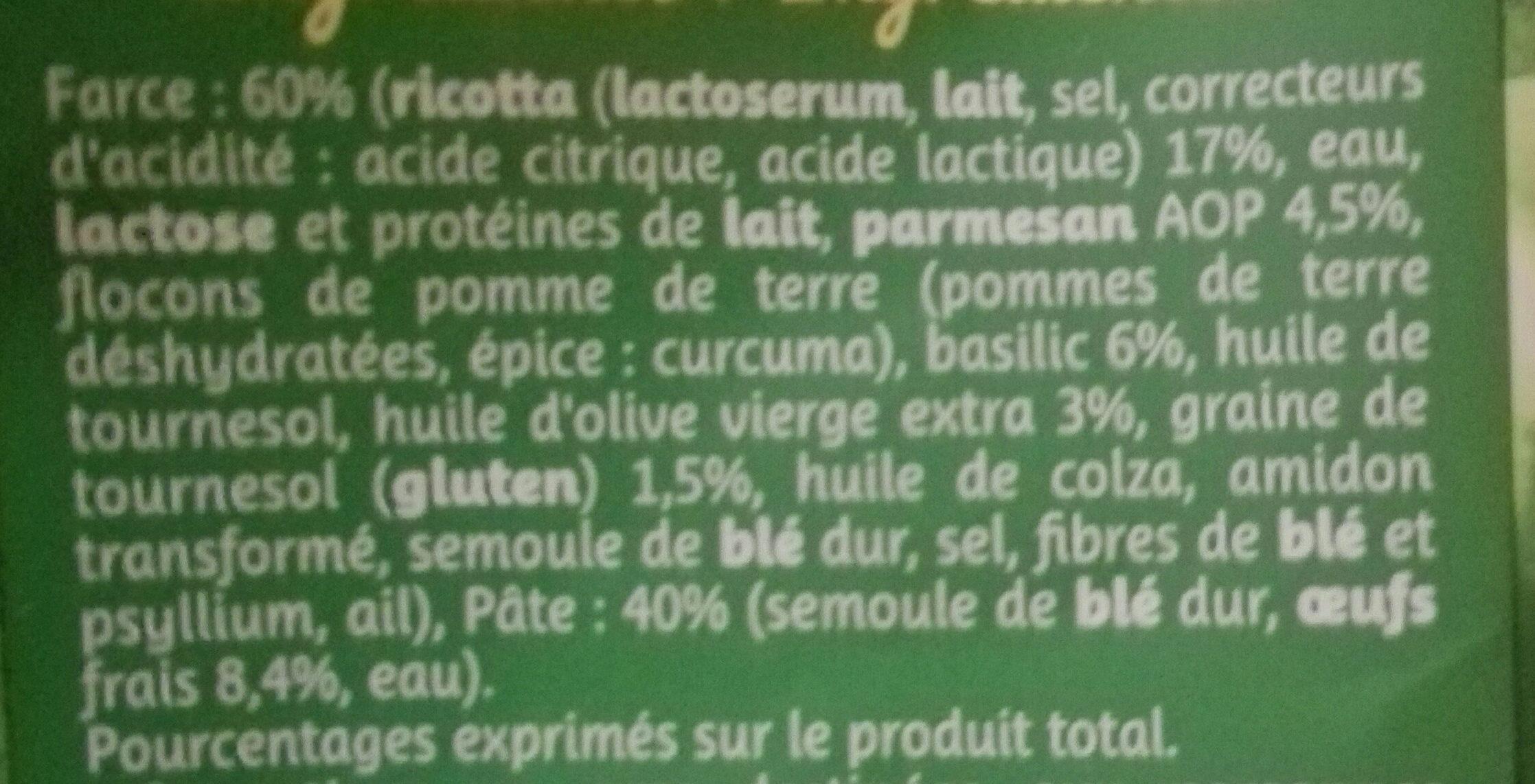 Girasoli pesto parmesan basilic - Ingrédients - fr