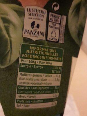 Tortellini pesto 250g - Nutrition facts - fr