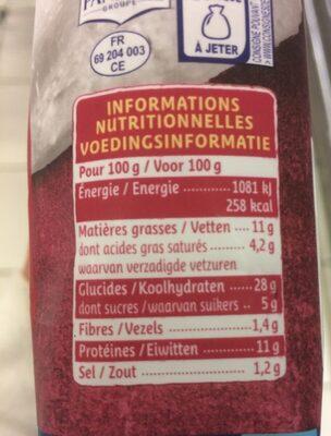 Girasoli jambon cru mozzarella - Nutrition facts