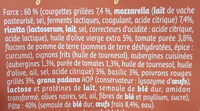 Girasoli Légumes du soleil Mozzarella - Ingredients - fr