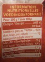Girasoli Légumes du soleil Mozzarella - Nutrition facts - fr