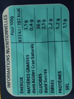 Gnocchi a poêler kg lustucru selection - Informations nutritionnelles - fr