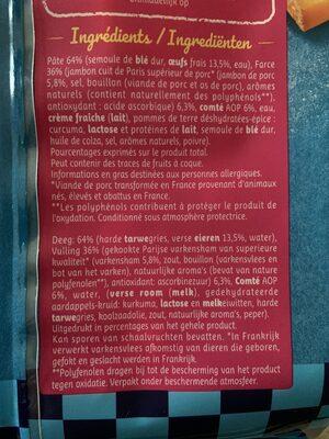 Tortellini jambon comte 250g - Ingrédients - fr