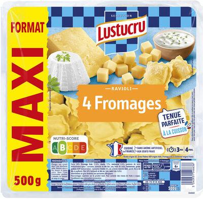 Lustucru ravioli 4 fromages 500g maxi - Produit - fr