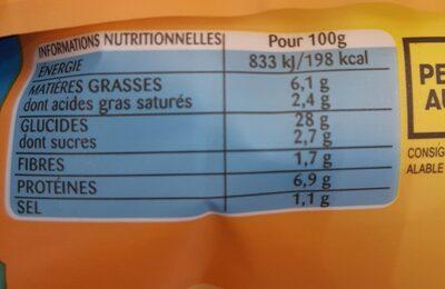 Lustucru tortellini a poeler 3 fromages - Informations nutritionnelles - fr