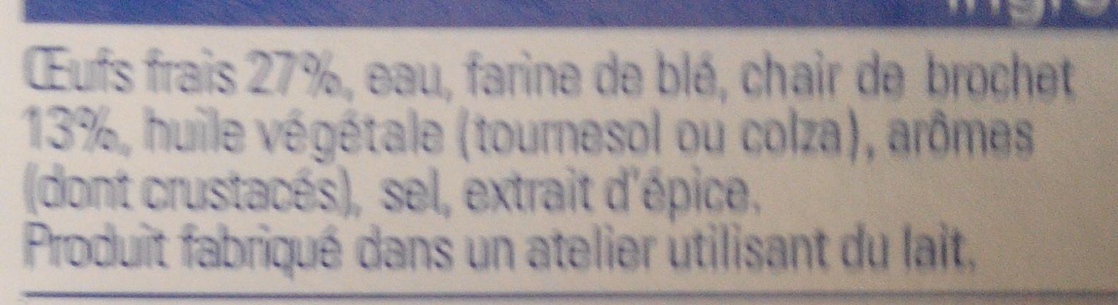 Quenelles Traiteur brochet - Ingrédients