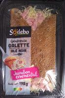 Galette au Blé Noir Jambon Emmental - Produit - fr