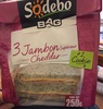 3 jambon supérieur cheddar + 1 cookie - Product