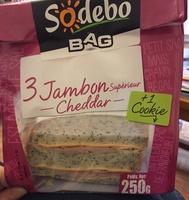 3 jambon supérieur cheddar + 1 cookie - Product
