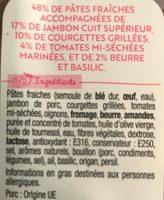 Pastacook - jambon supérieur, courgettes grillées et tomates marinées - Ingrédients
