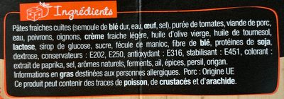 Box & balls chorizo doux - Ingredients - fr