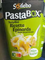 PastaBox - Tortellini Ricotta Epinards Sauce au parmesan - Produit - fr