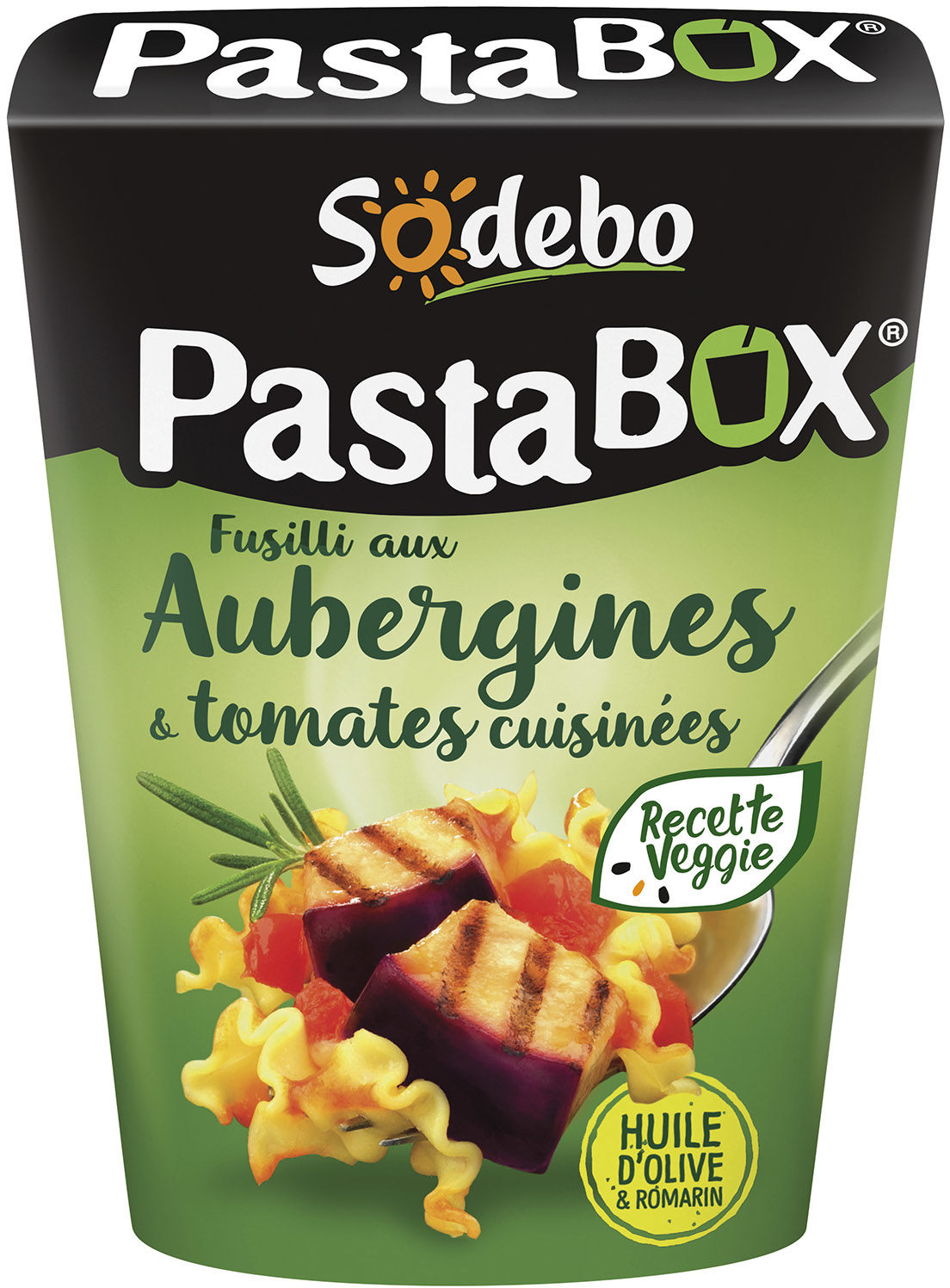 PastaBox - Fusilli aux Aubergines et Tomates cuisinées - Produit - fr