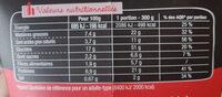 PastaBox - Fusilli à la Carbonara - Informazioni nutrizionali - fr
