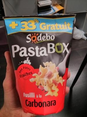 PastaBOX (Fusilli à la Carbonara aux pâtes fraîches) + 33 % Gratuit - Product - fr