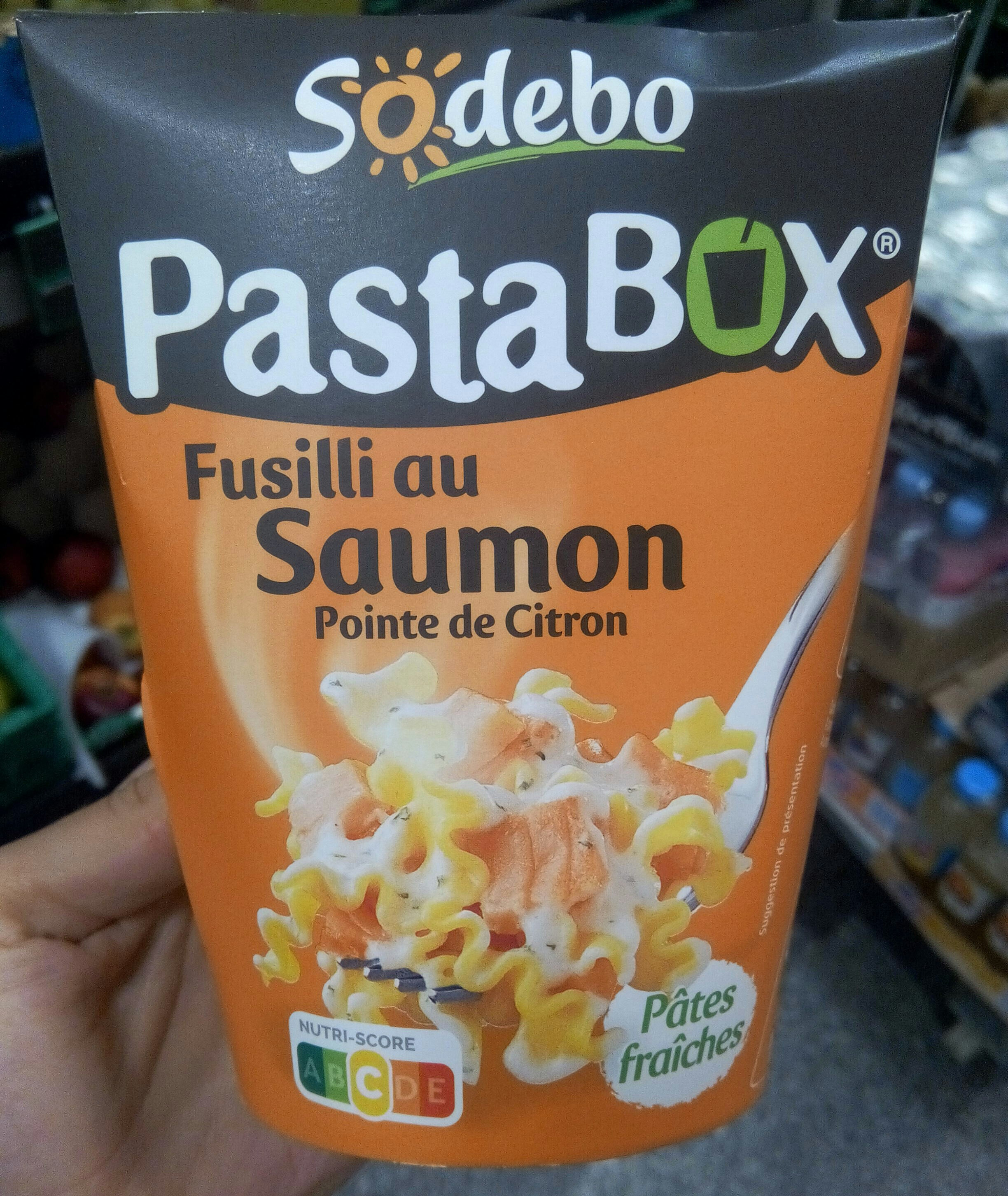 PastaBox - Fusilli au Saumon et Pointe de citron - Product - fr