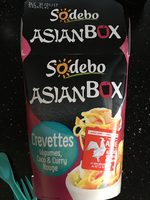 AsianBox Crevettes, Légumes, Coco & Curry Rouge - Product - fr